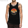 Vintage Style Funny Sloth Cycologist Tank Top