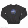 Funny Intergalactic Ramen Nasa Logo Parody Sweatshirt