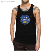 Funny Intergalactic Ramen Nasa Logo Parody Tank Top