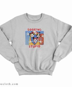 Animaniacs Looking Stupid Sweatshirt