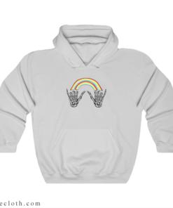 Louis Tomlinson Rainbow Skeleton Hoodie