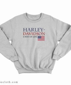 American Flag Harley Davidson A Way Of Life Sweatshirt